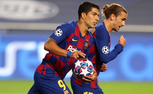 Sự phối hợp ăn ý giữa Luis Suarez với tân binh người Pháp đã giúp Barcelona